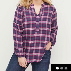 NWT Lane Bryant plaid shirt. Size 28